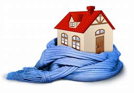 Blue scarf wrapped protectively around house