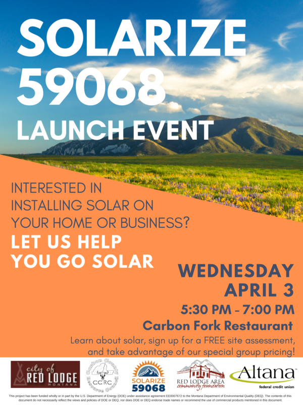 Solarize 59068 Launch Event poster